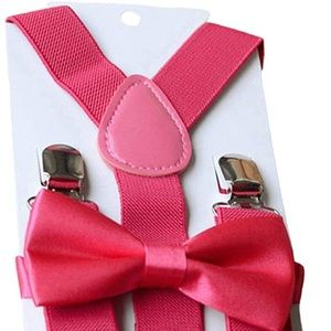 ✨ROSE PINK BOYS SUSPENDER & BOW TIE SET - *NWT*